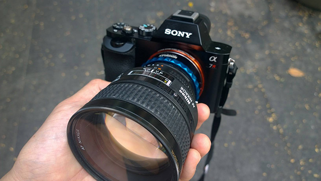 Sony A7r with Nikon 85mm f1.4D lens